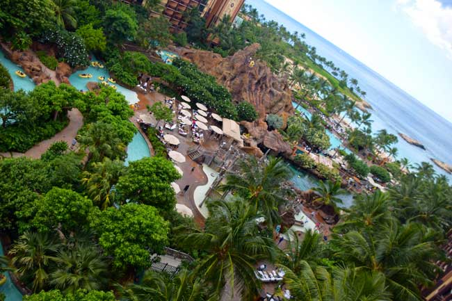 In the heart of the Aulani resort is a 7-acre water park called Waikolohe Valley, which translates to mischievous waters.