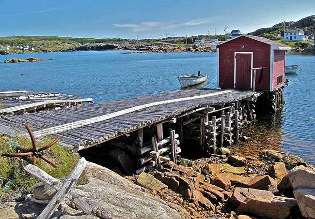 Along the shore on Fogo Island, Newfoundland. Flickr/Douglas Sprott