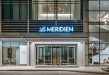 Entrance on California Street. Photo courtesy of Le Meridien