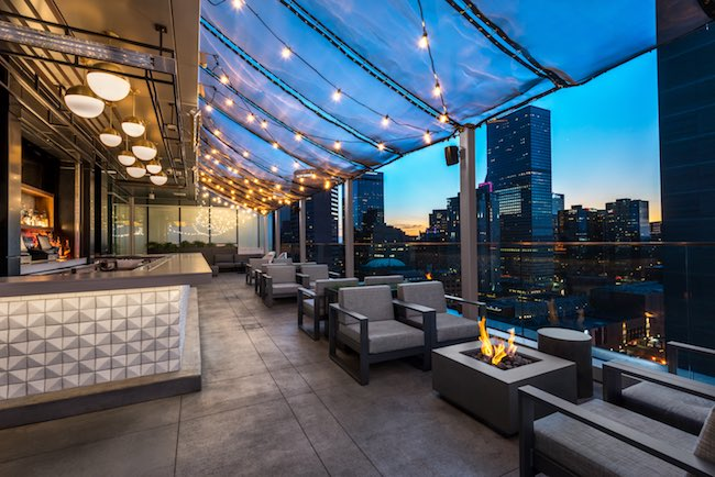 54 Thirty Rooftop bar. Photo courtesy of Le Meridien.