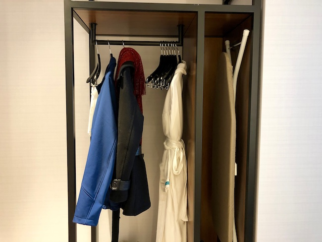 Closet in king room. Photo by Claudia Carbone