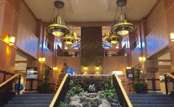 Grand staircases leading the lobby. Photo by Claudia Carbone