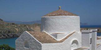 Little church in Lindos on the island of Rhodes, Greece. Flickr/ Landfeldt