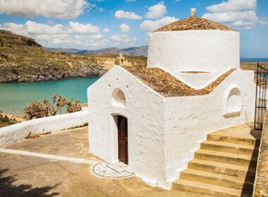 Island of Rhodes in Greece