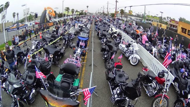 Memorial Day Harley Ride with 8,000 Bikers