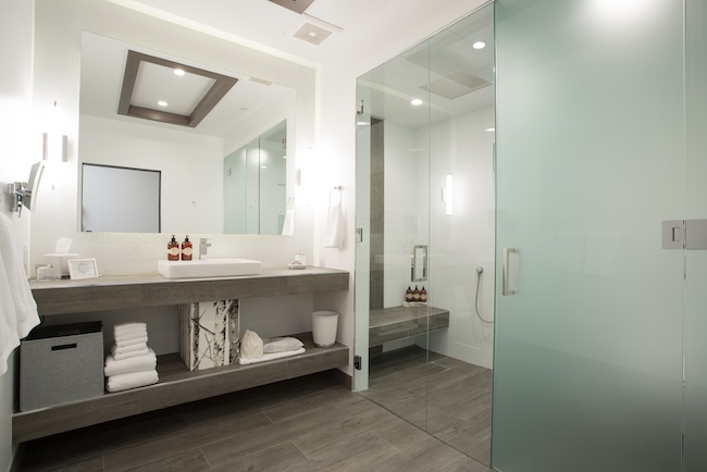 Luxury bathroom in the suite. Photo courtesy of The Distillery Inn