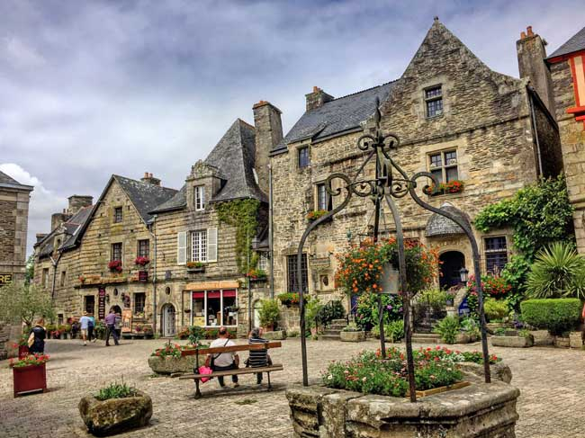 Locronan, France. Photo by Rich Grant