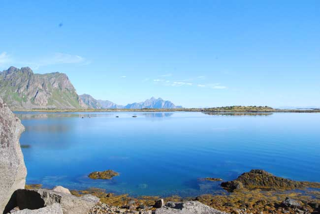 It's quiet and peaceful in the Lofoten Islands. Photo by Jennifer Baines