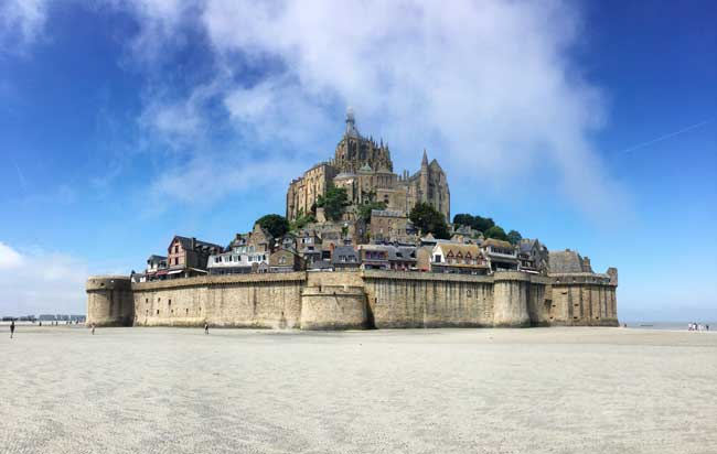 Mont St-Miche is one of Europe's top attractions. Photo by Rich Grant