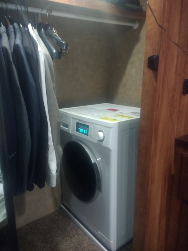 All-in-one washer dryer combo, live and work from RV