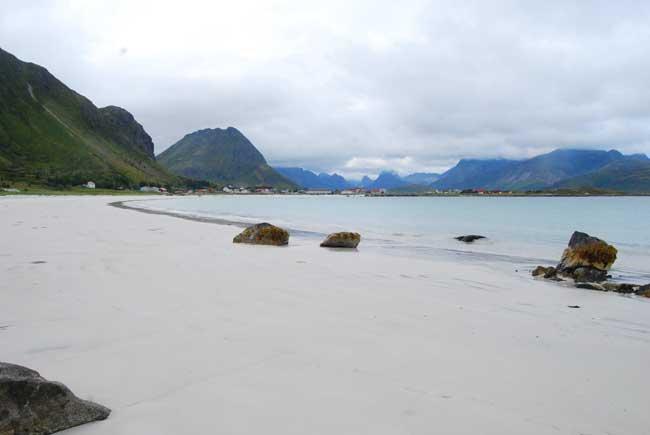 The village of Ramberg on the island of Flakstadøya in the Lofoten archipelago in Norway. Photo by Jennifer Baines