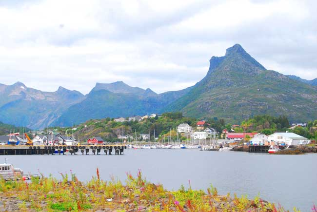Svolvær is located on the island of Austvågøya in the Lofoten archipelago. Photo by Jennifer Baines