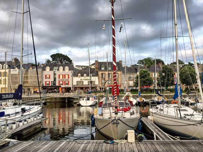Vannes is a small coastal town in Brittany. Photo by Rich Grant