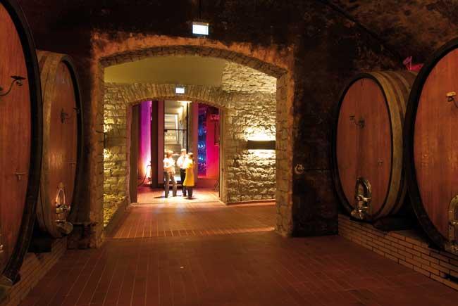 The wine cellars at Weinreich Sommerach. Photo by FrankenTourismus/FWL/Hub