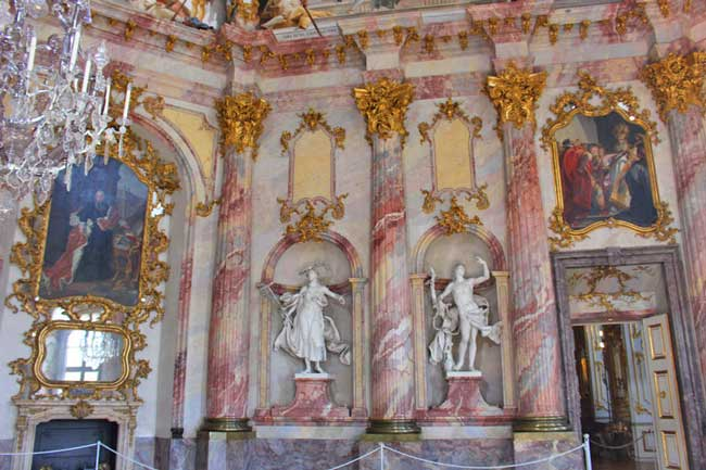 Intricate frescoes and over-the-top architecture are the norm Wurzburg Residenz, a baroque and rococo masterpiece. Photo by Janna Graber