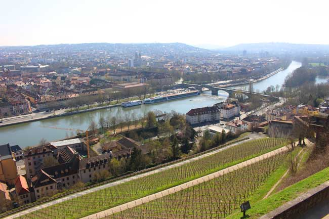 View from Marien Fortress. The Main River runs through Würzburg. Photo by Janna Graber