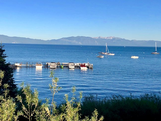 Lake Tahoe with Heavenly Ski Resort in background. Photo by Claudia Carbone