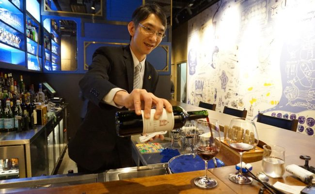 Hong Kong wine tasting