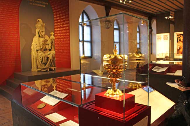 Exhibit in the Imperial Castle in Nuremberg. Photo by Janna Graber