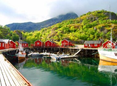 Nusfjord is a small fishing village in the Lofoten Islands of northern Norway. Photo by Jennifer Baines