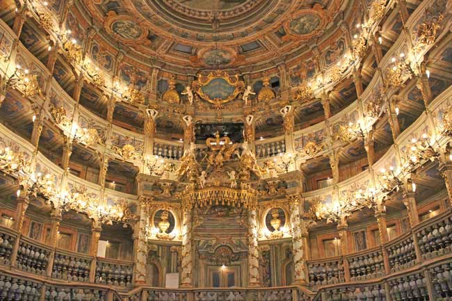 More than 93,000 hours were spent restoring the Margravial Opera House. Photo by Janna Graber