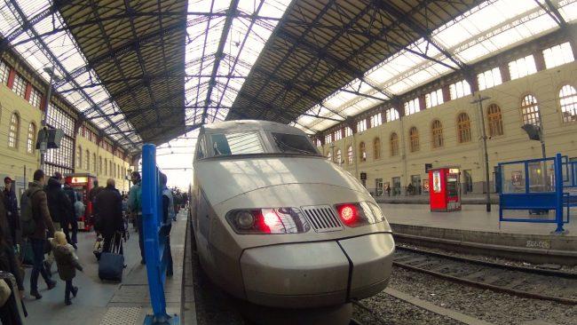 TGV train in Marseille