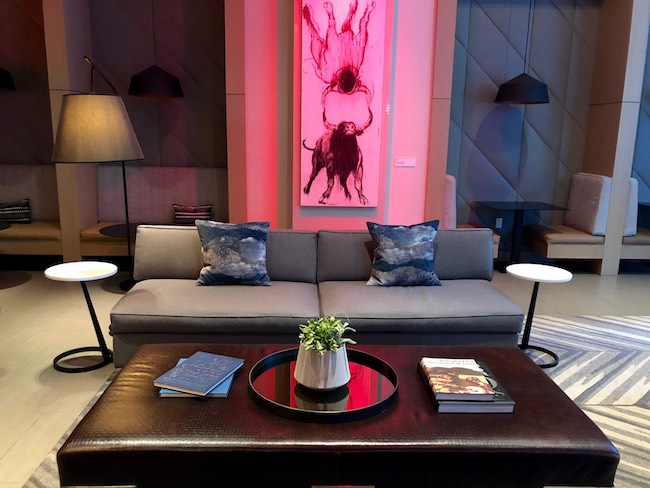 Lobby Lounge with Bull art. Photo by Claudia Carbone