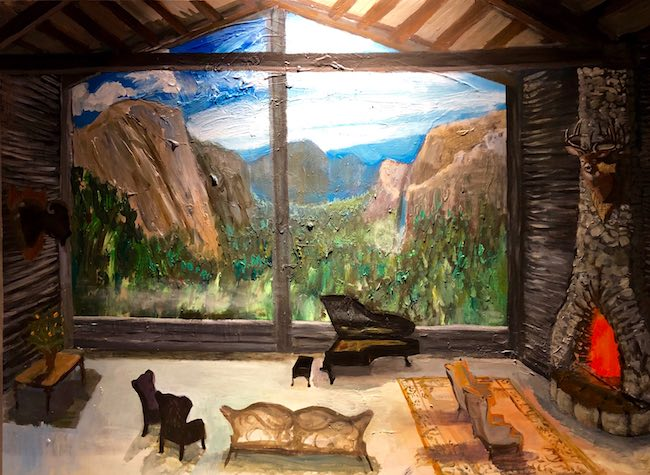 Johnny Defeo's Yosemite, Rustic Cabin. Photo by Claudia Carbone