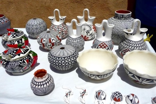 Acoma pottery. Photo by Claudia Carbone