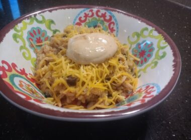 Chicken Burrito Bowl is an excellent dish to cook in an RV