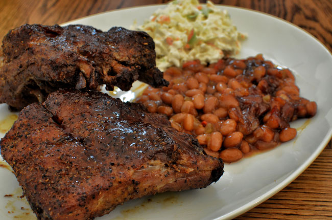 Dry rub barbecue is a favorite in Memphis.