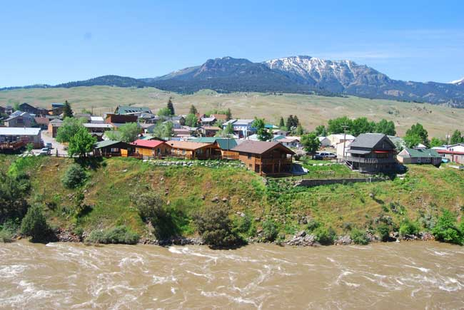 Gardiner, Montana is the norther gateway in Yellowstone National Park. Photo by Jennifer Baines