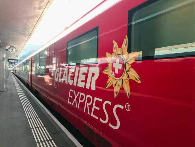 The Glacier Express. Photo by Jamie Siebrase