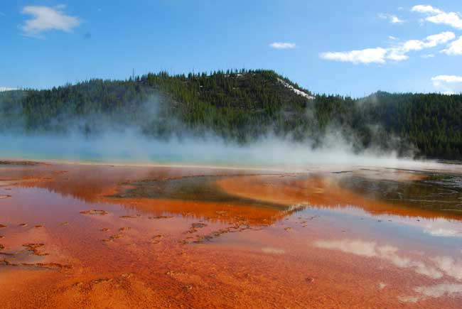 Grand Prismatic Spring in Yellowstone National Park. Photo by Jennifer Baines