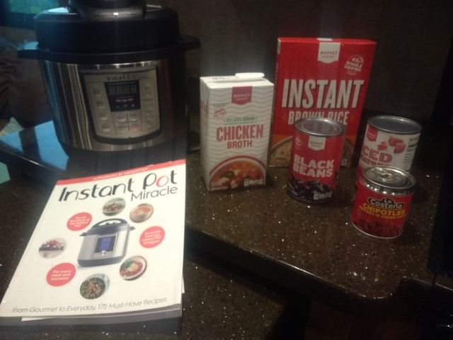 Instant Pot and ingredients.