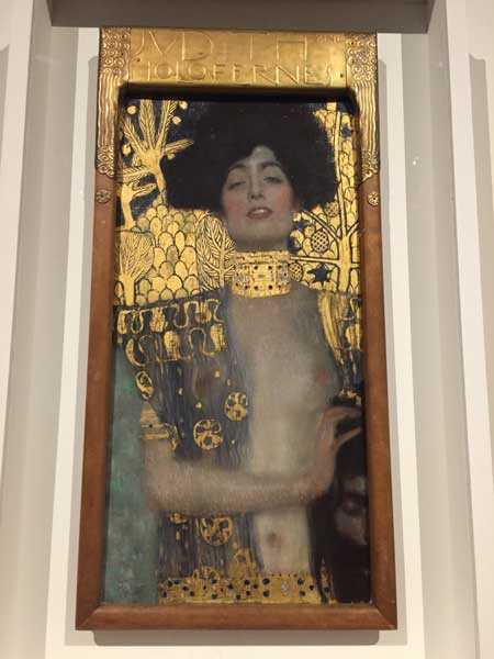 "Klimt's Biblically themed ""Judith"" hangs in the same gallery as ""The Kiss."" Photo credit: Rich Warren"