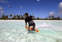 Kitesurfing the Cocos Keeling Islands. Photo Nina Burakowski