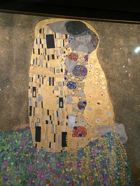 """The Kiss"" is the most popular of Gustav Klimt's 24 paintings housed in the Upper Belvedere Palace. Photo credit: Rich Warren"