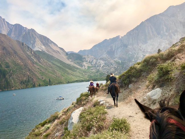 Horseback riding at Convict Lake Resort. Photo by Claudia Carbone