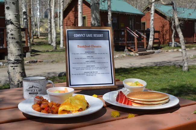 Breakfast al fresco from the food truck. Photo courtesy of Convict Lake Resort