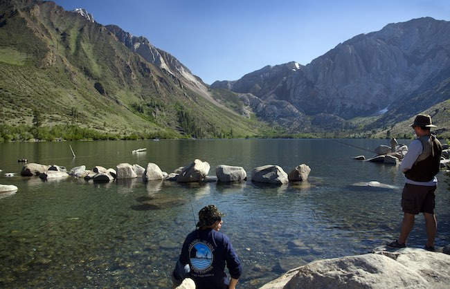 Fishing at Convict Lake. Photo by Dino Vournas