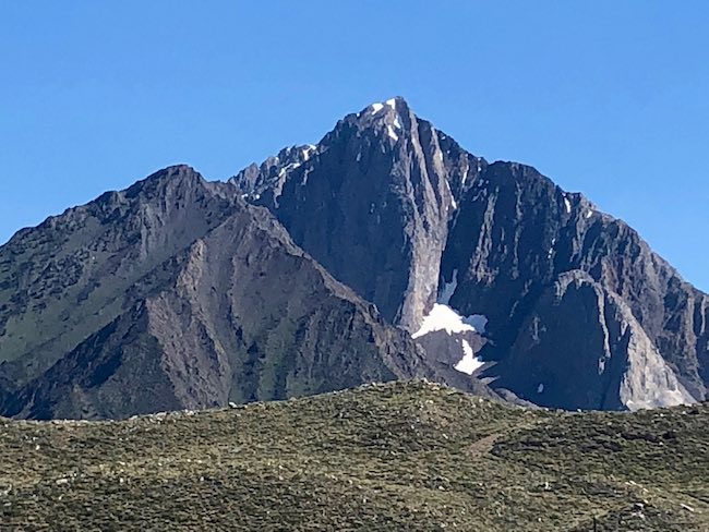 Mt. Morrison, prominent peak in the Eastern Sierra. Photo by Claudia Carbone