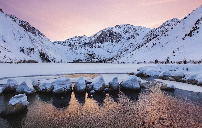 Convict Lake in winter. Photo courtesy of Convict Lake Resort
