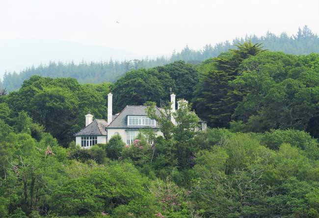 The late Maureen O'Hara's home, seen from Bantry Bay. Photo by Rondi Adamson