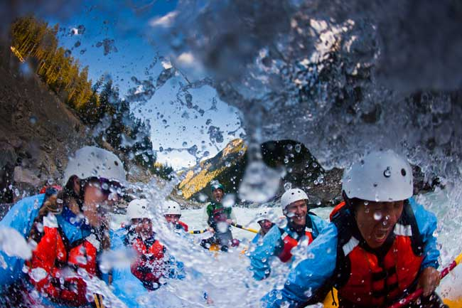 Rafting is a popular sport in Golden, BC. Photo by Dave Best