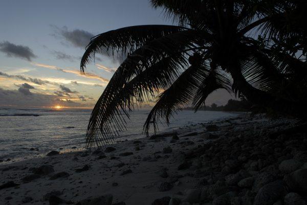 Sunset on the Cocos Keeling Islands. Photo by Nina Burakowski