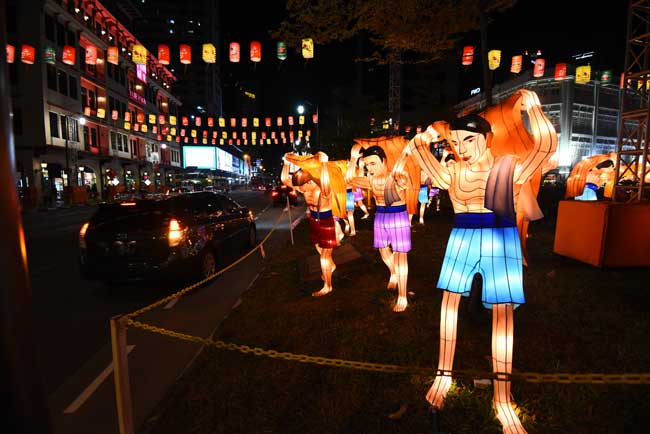 The Mid-Autumn Festival is a popular event in Singapore.