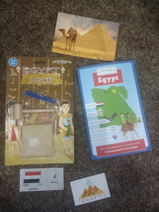 The Egypt country package with Little Passports