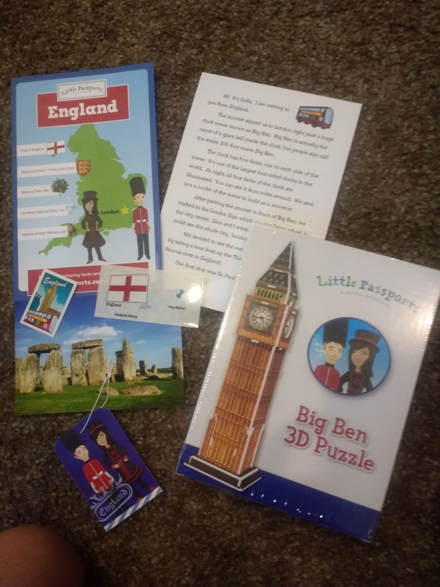 The England activity with Little Passports