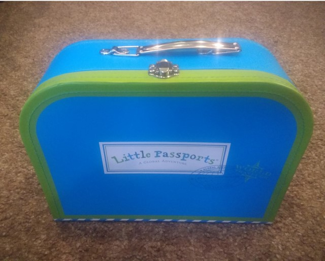The suitcase that comes in Little Passports. Photo by autho